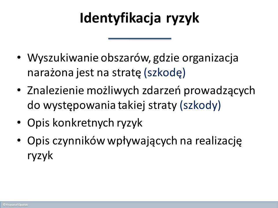 II.MIEJSCA POWSTAWANIA RYZYKA OPERACYJNEGO © Krzysztof Opolski