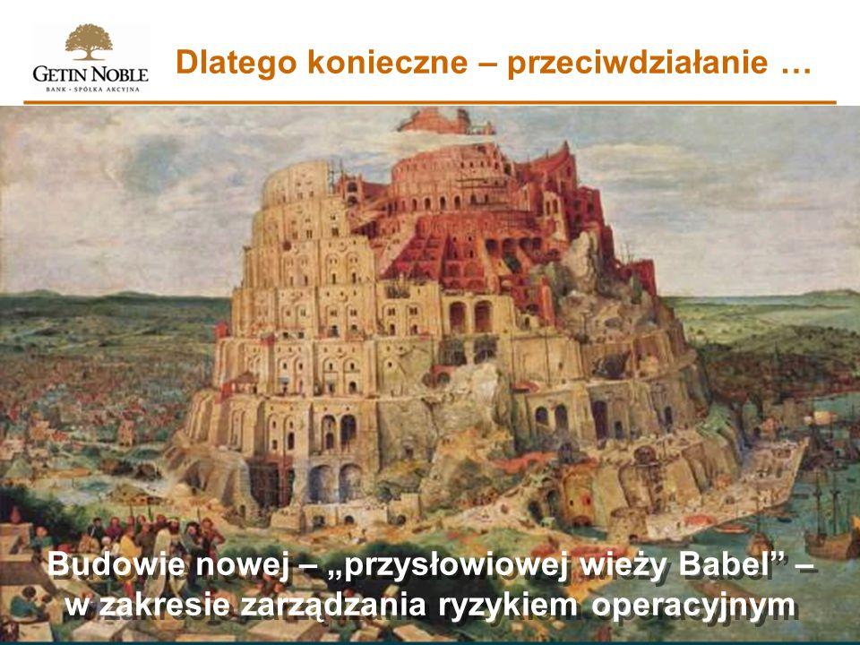 Dlatego konieczne – przeciwdziałanie … Budowie nowej – przysłowiowej wieży Babel – w zakresie zarządzania ryzykiem operacyjnym