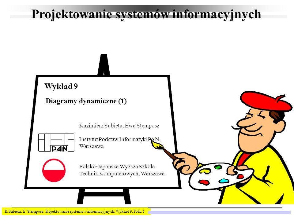 K.Subieta, E. Stemposz. Projektowanie systemów informacyjnych, Wykład 9, Folia 1 Projektowanie systemów informacyjnych Kazimierz Subieta, Ewa Stemposz