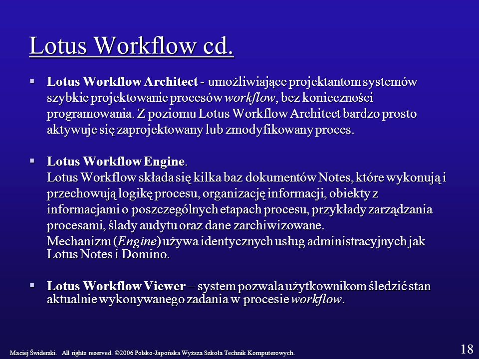 Lotus Workflow cd.