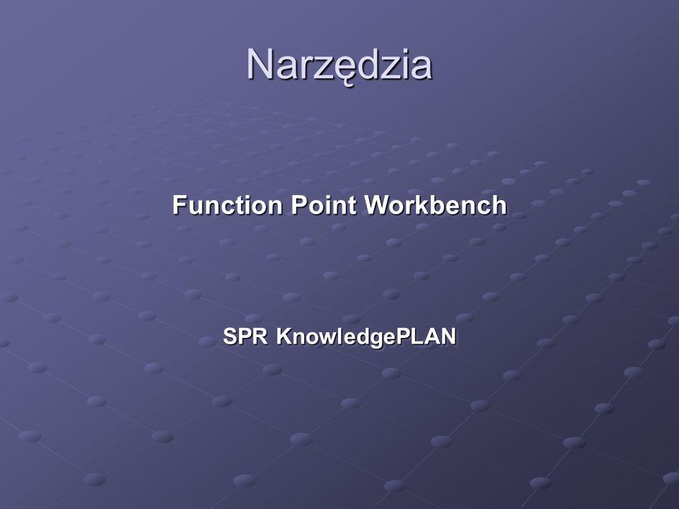 Narzędzia Function Point Workbench SPR KnowledgePLAN