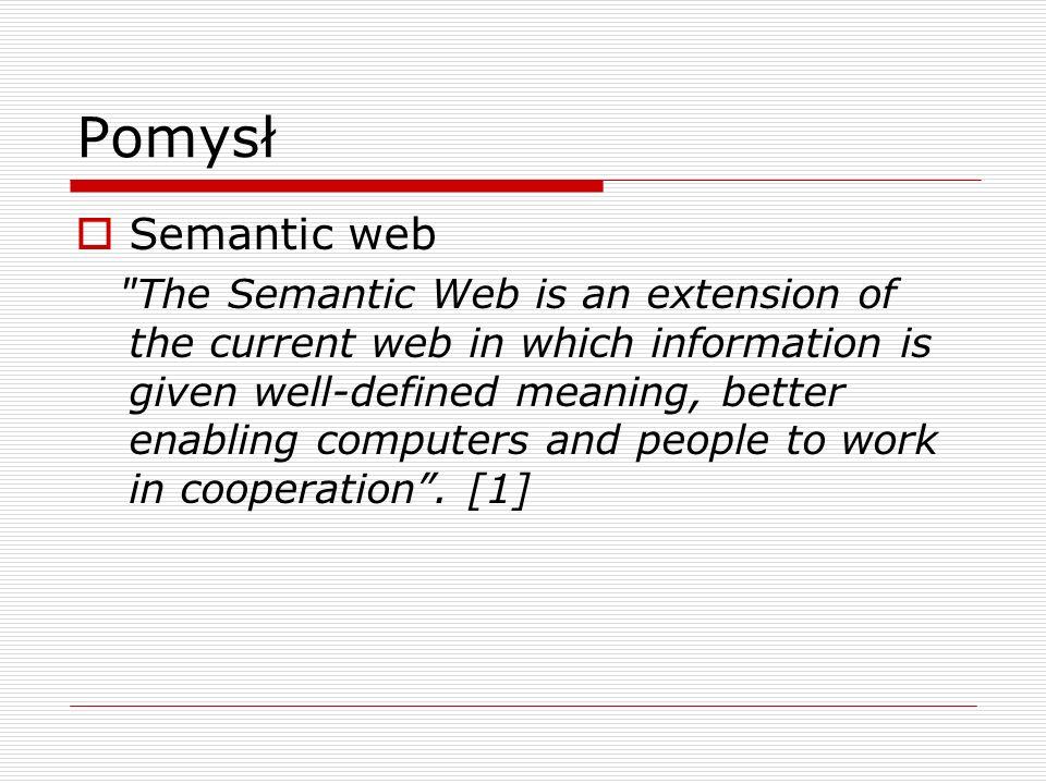 Pomysł Semantic web