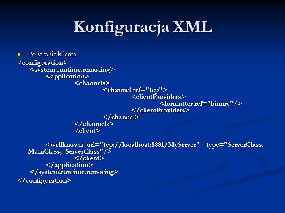 Konfiguracja XML Po stronie klienta Po stronie klienta </configuration>