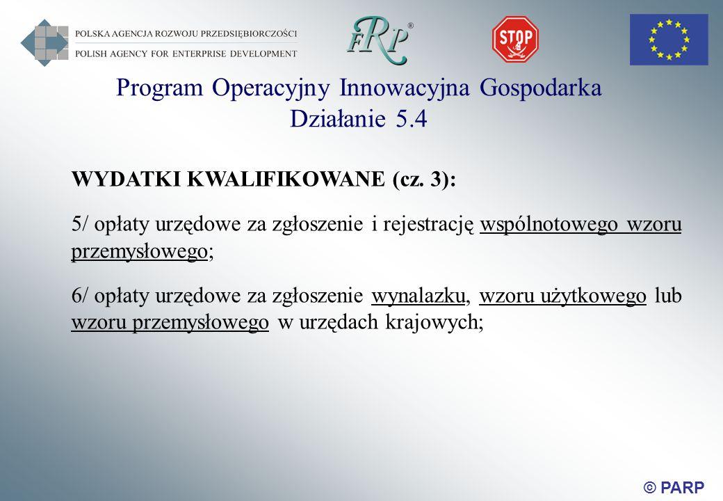 © PARP WYDATKI KWALIFIKOWANE (cz.