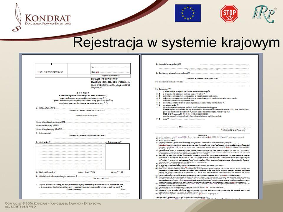 Rejestracja w systemie krajowym