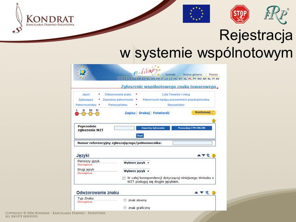 Rejestracja w systemie wspólnotowym