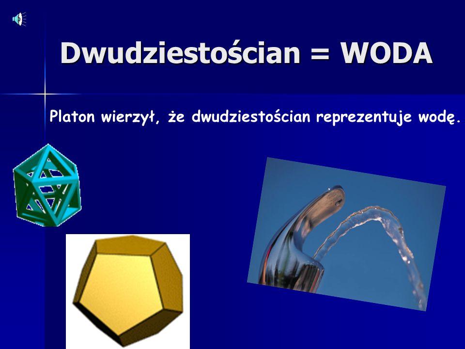 Ośmiościan = POWIETRZE Platon wierzył, że ośmiościan reprezentuje powietrze.