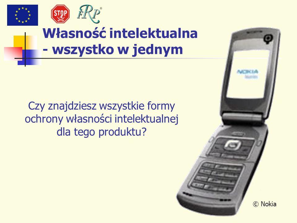© Nokia Własność intelektualna - wszystko w jednym Czy znajdziesz wszystkie formy ochrony własności intelektualnej dla tego produktu?