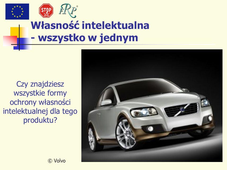 © Volvo Czy znajdziesz wszystkie formy ochrony własności intelektualnej dla tego produktu? Własność intelektualna - wszystko w jednym