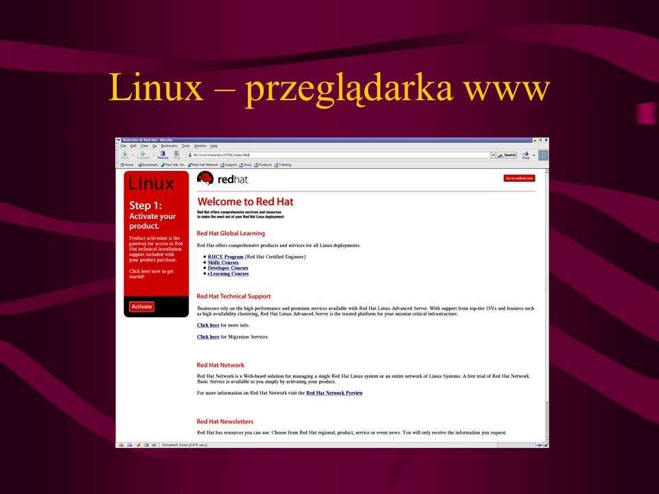 Linux – przeglądarka www
