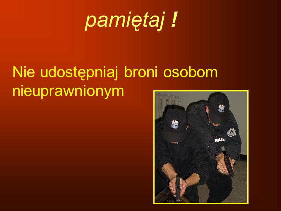 Nie udostępniaj broni osobom nieuprawnionym pamiętaj !