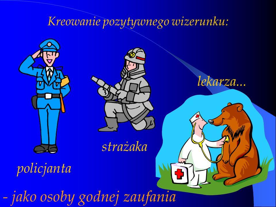 Kreowanie pozytywnego wizerunku: policjanta strażaka lekarza... - jako osoby godnej zaufania