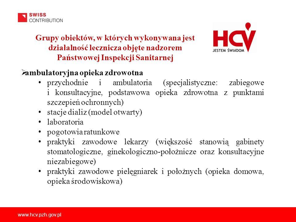 www.hcv.pzh.gov.pl ambulatoryjna opieka zdrowotna przychodnie i ambulatoria (specjalistyczne: zabiegowe i konsultacyjne, podstawowa opieka zdrowotna z