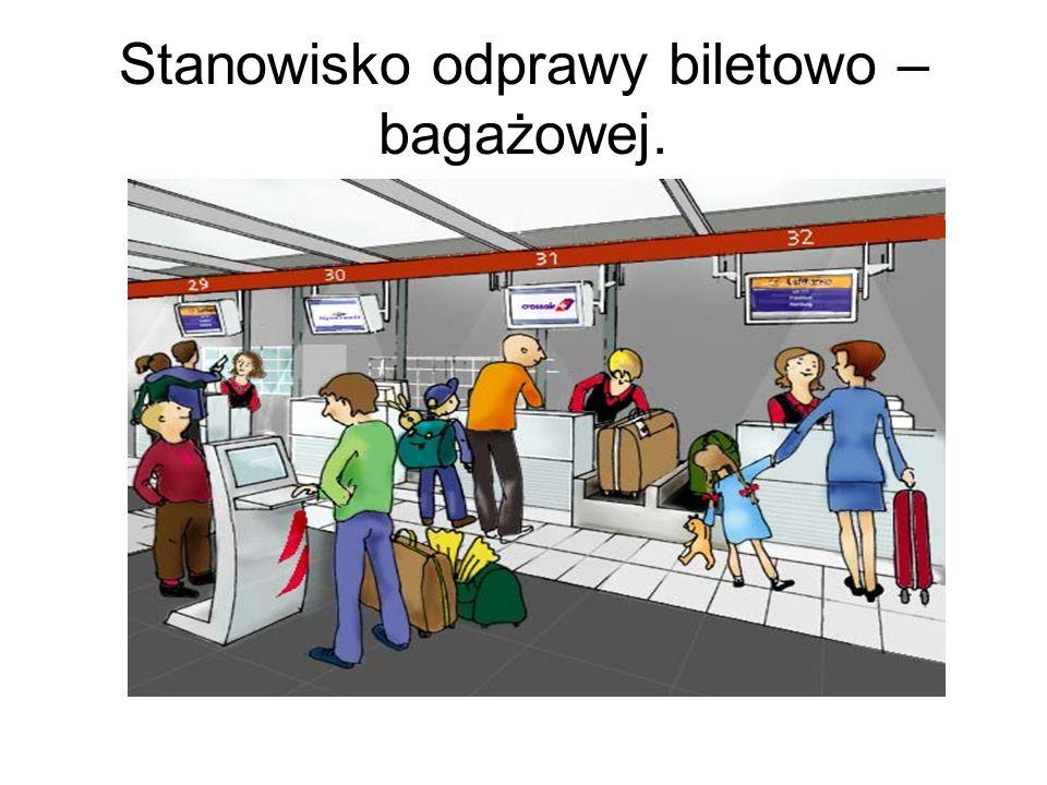 Stanowisko odprawy biletowo – bagażowej.