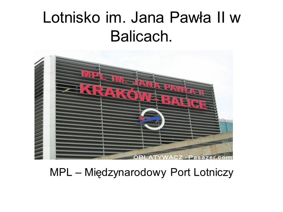 Historia lotniska.Początki cywilnej działalności lotniska Kraków-Balice sięgają 1964r.
