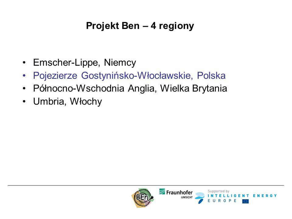 Projekt Ben – 4 regiony Emscher-Lippe, Niemcy Pojezierze Gostynińsko-Włocławskie, Polska Północno-Wschodnia Anglia, Wielka Brytania Umbria, Włochy