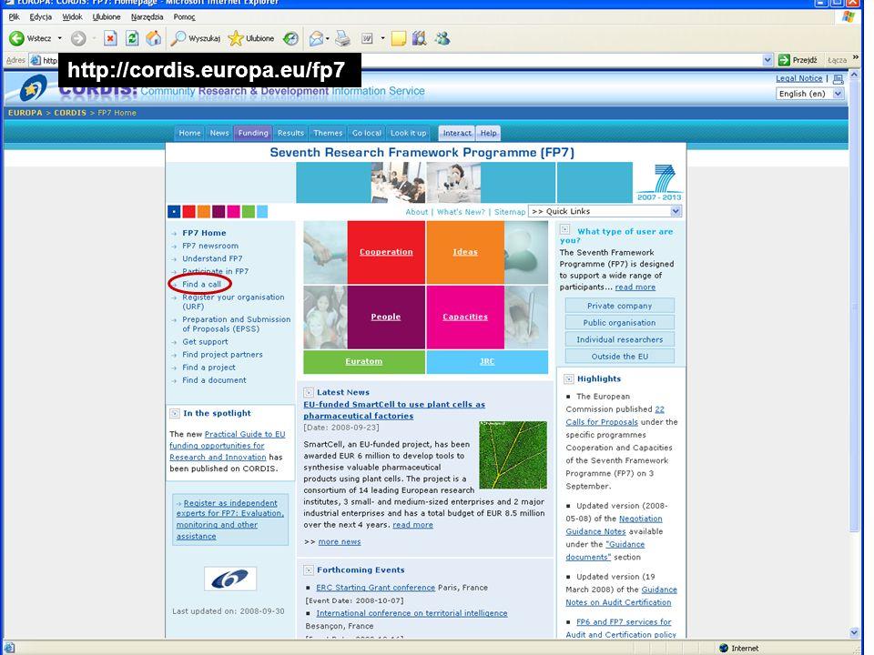 http://cordis.europa.eu/fp7