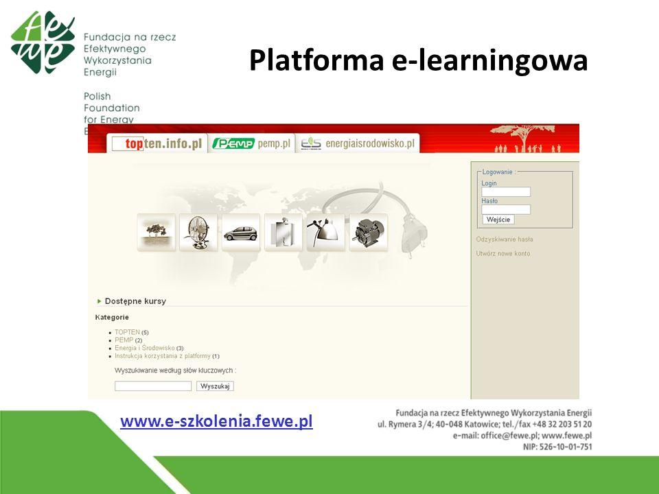 Platforma e-learningowa www.e-szkolenia.fewe.pl