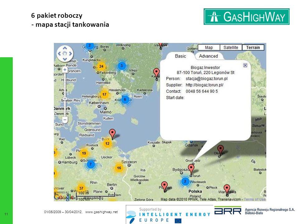 6 pakiet roboczy - mapa stacji tankowania 01/05/2009 – 30/04/2012, www.gashighway.net 11