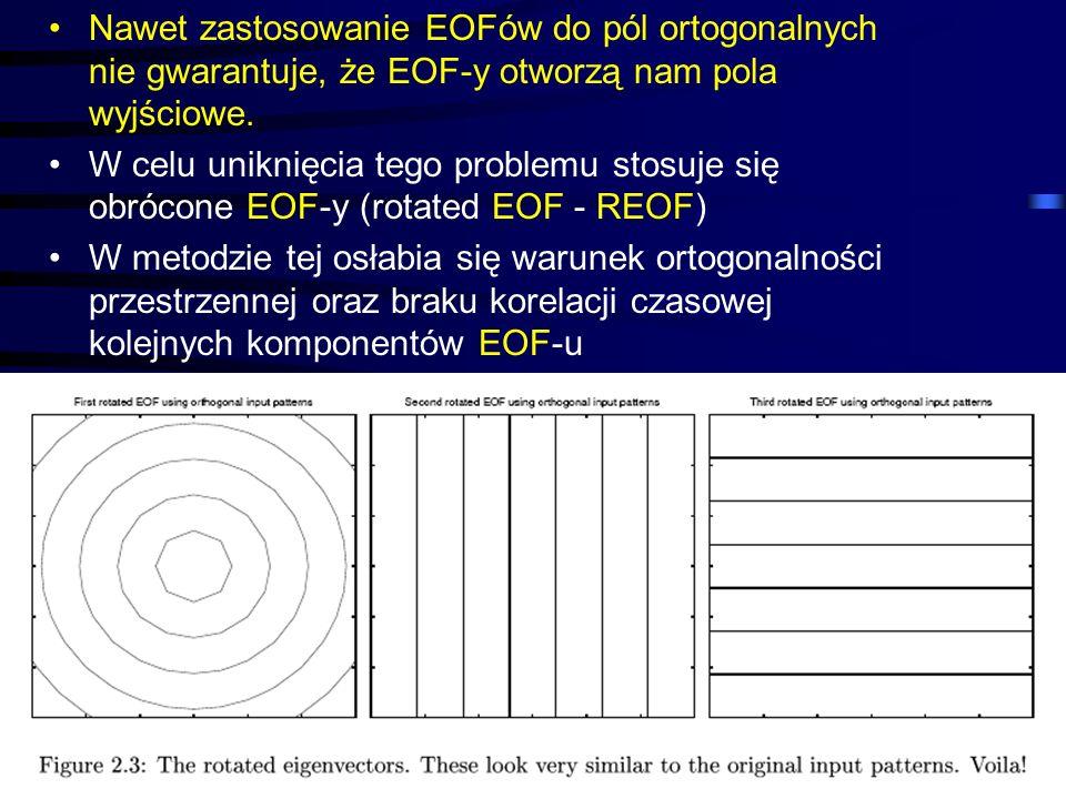 45 Nawet zastosowanie EOFów do pól ortogonalnych nie gwarantuje, że EOF-y otworzą nam pola wyjściowe. W celu uniknięcia tego problemu stosuje się obró