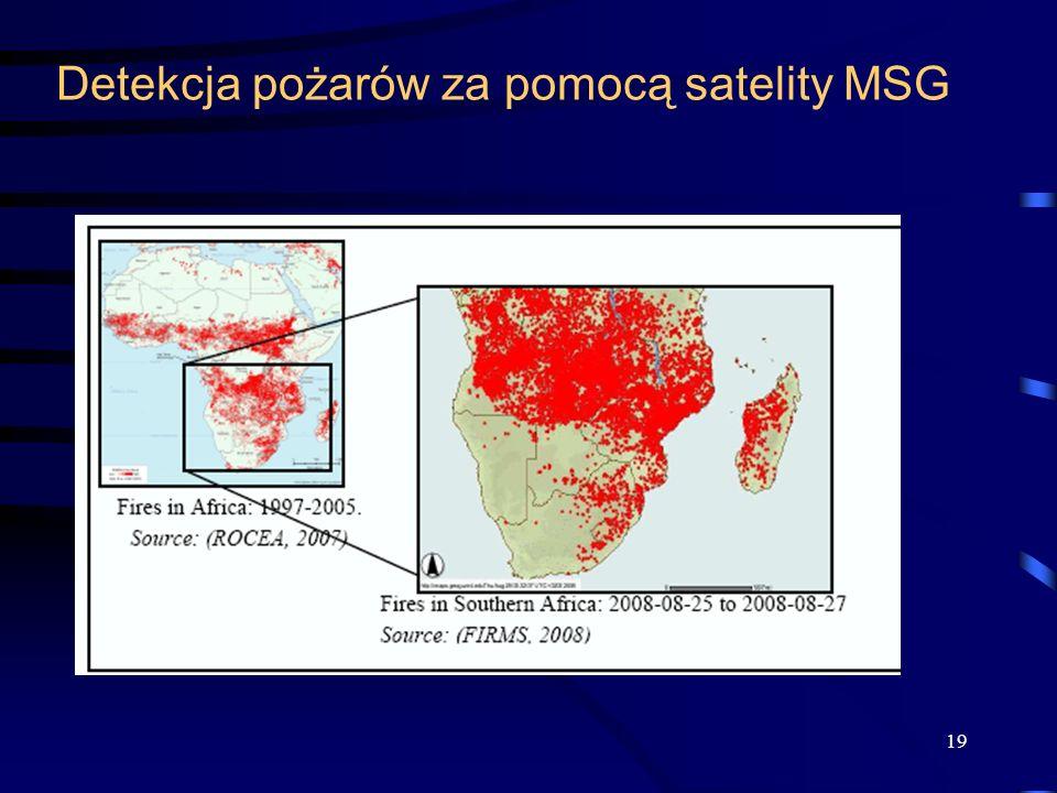 Detekcja pożarów za pomocą satelity MSG 19