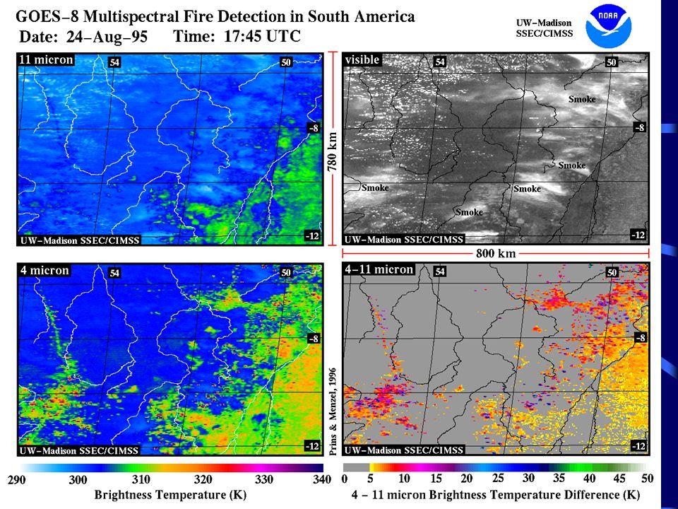 Overview of the GOES Automated Smoke/Aerosol Detection Algorithm (ASADA) Algorytm wykrywania dymu pochodzącego z pożarów przy użyciu satelity stacjonarnego GOES.