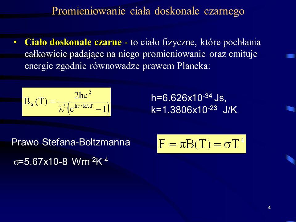 5 Prawo Wiena a=2.897x10 -3 mK.