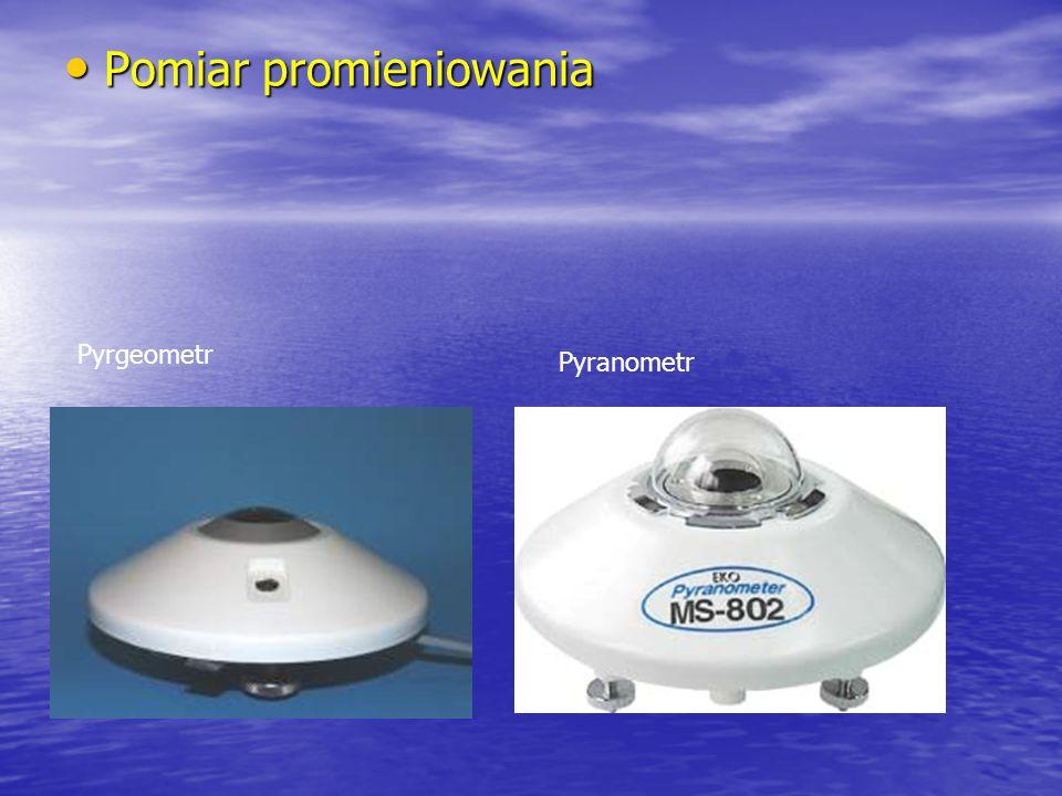 Pomiar promieniowania Pomiar promieniowania Pyrgeometr Pyranometr