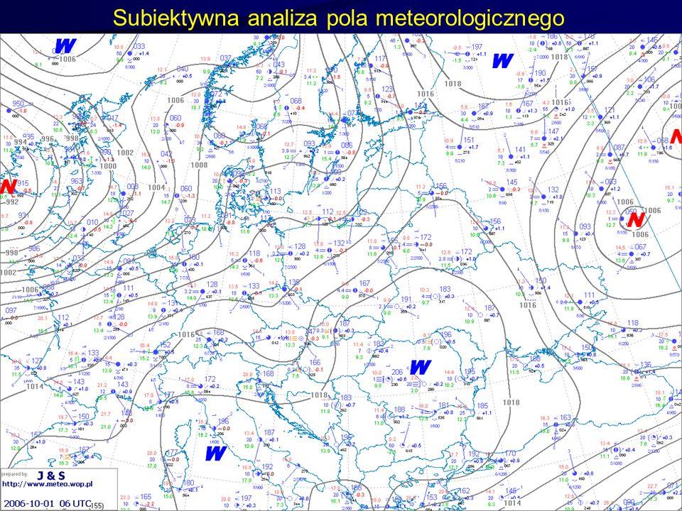 13 Subiektywna analiza pola meteorologicznego