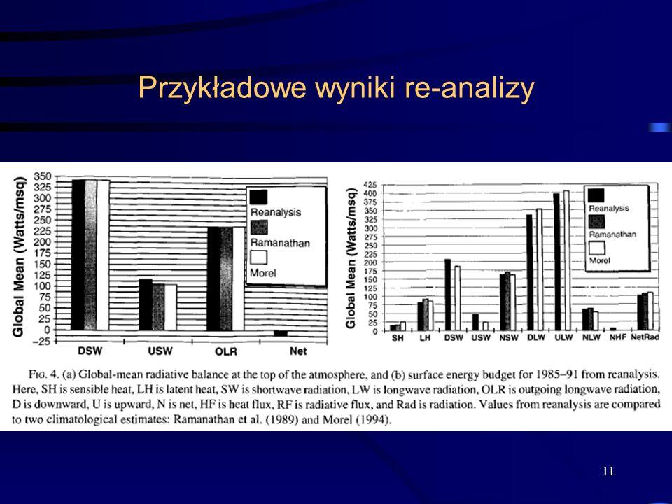 11 Przykładowe wyniki re-analizy