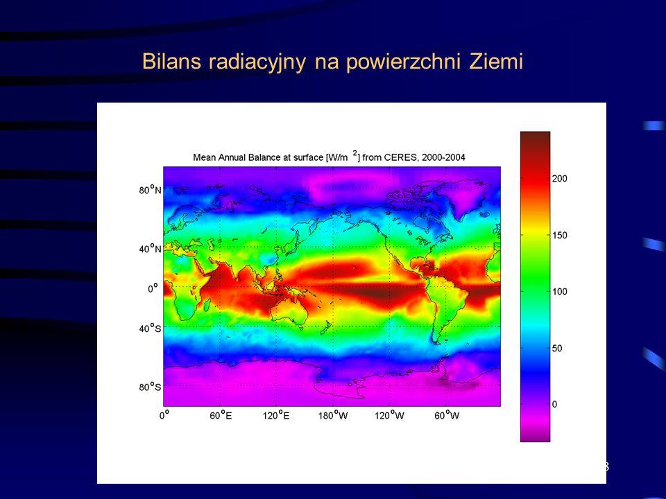 Bilans radiacyjny na powierzchni Ziemi 18