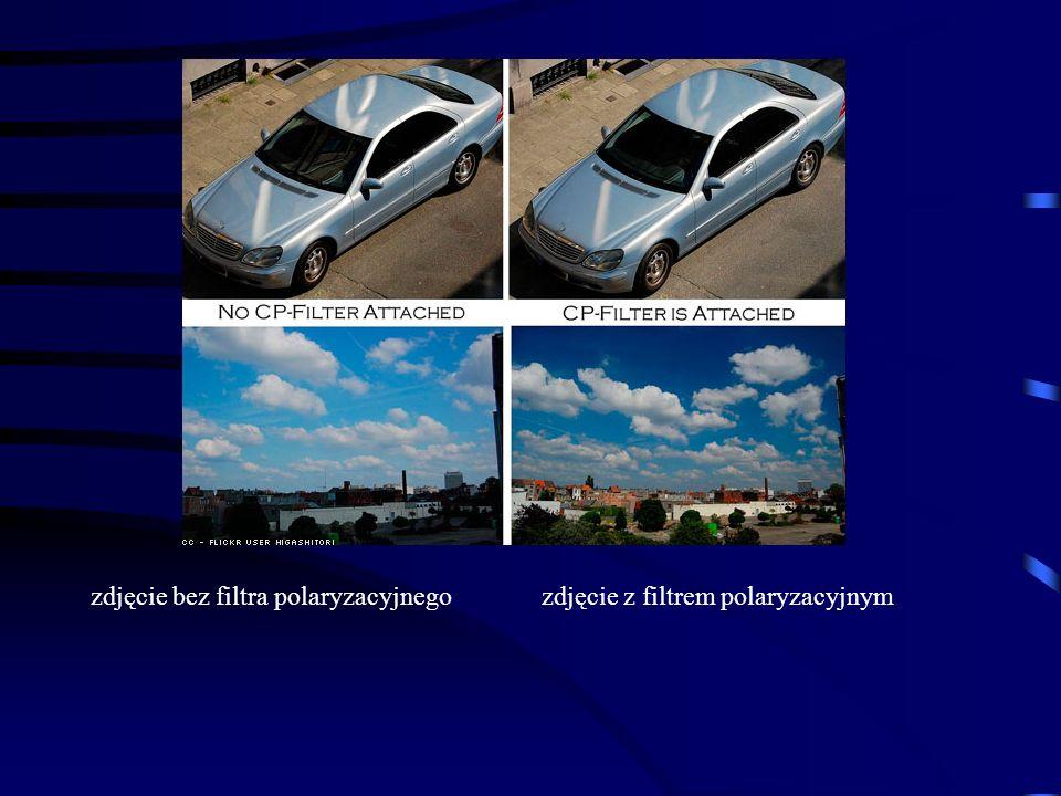 zdjęcie bez filtra polaryzacyjnegozdjęcie z filtrem polaryzacyjnym