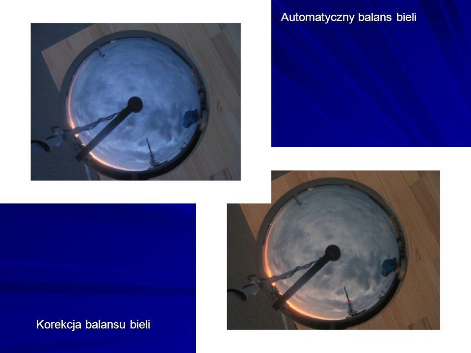 Automatyczny balans bieli Korekcja balansu bieli