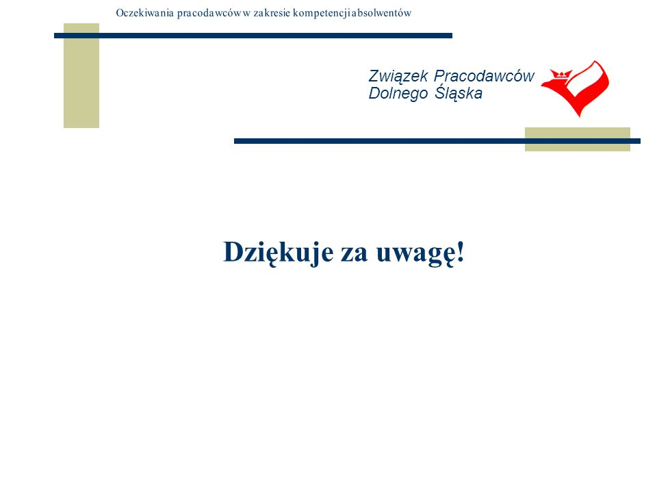 Związek Pracodawców Dolnego Śląska Dziękuje za uwagę!