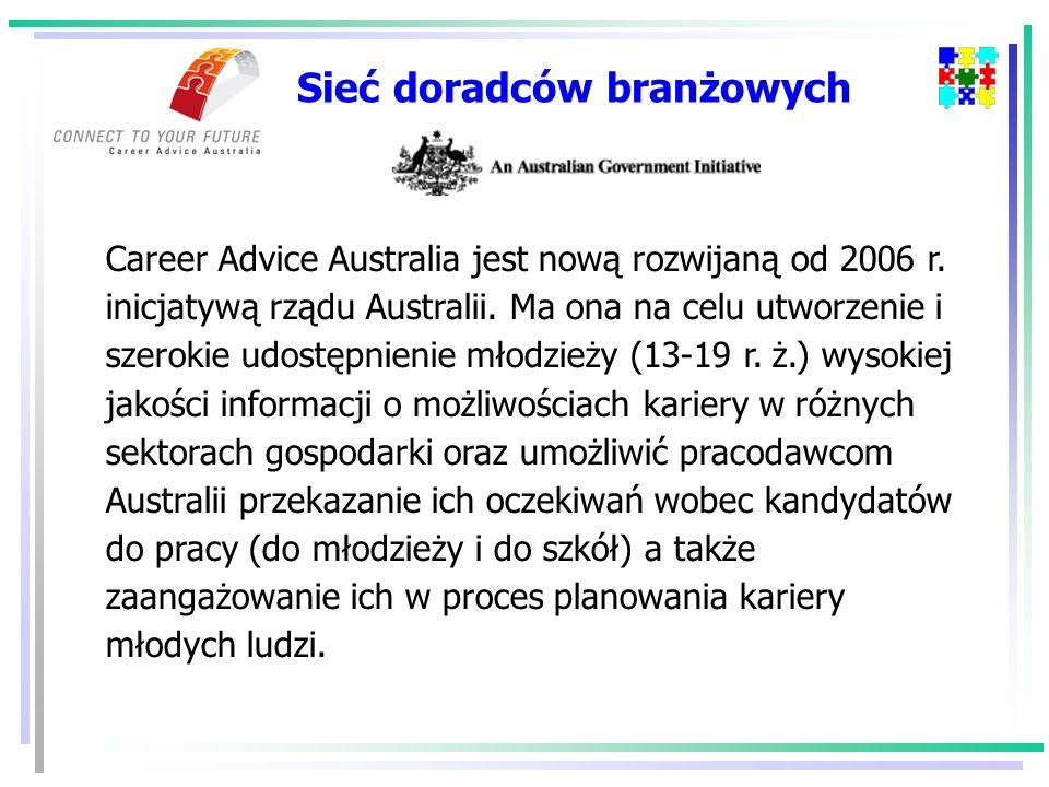 Sieć doradców branżowych Career Advice Australia jest nową rozwijaną od 2006 r.