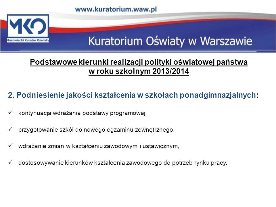 Podstawowe kierunki realizacji polityki oświatowej państwa w roku szkolnym 2013/2014 3.