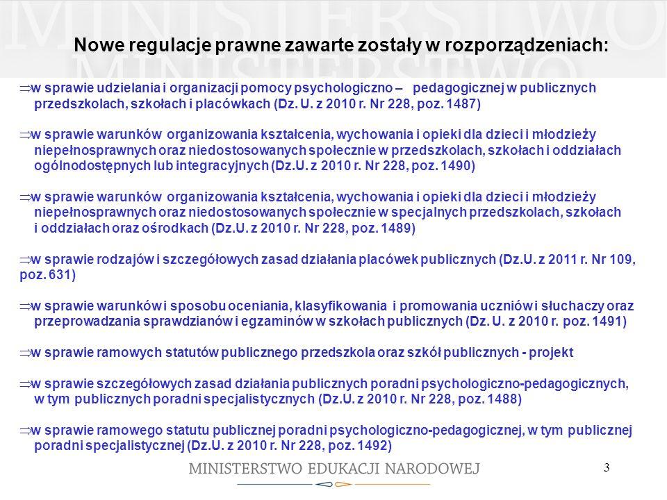 Rok szkolny 2011/2012 W roku szkolnym 2011/2012: do 30 września 2011 r.