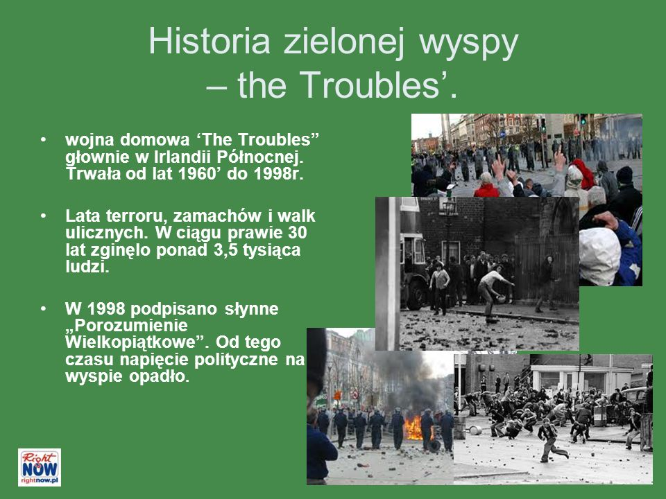Historia zielonej wyspy – the Troubles. wojna domowa The Troubles głownie w Irlandii Północnej.