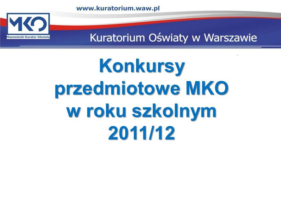 Konkursy przedmiotowe MKO w roku szkolnym 2011/12