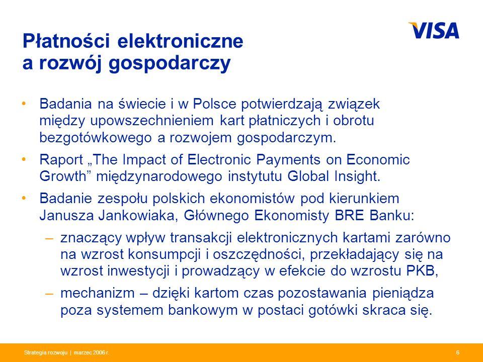 Presentation Identifier.6 Information Classification as Needed 6Strategia rozwoju | marzec 2006 r. Płatności elektroniczne a rozwój gospodarczy Badani