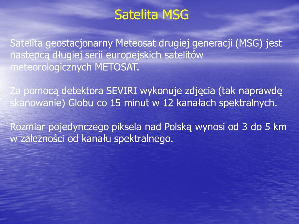 Satelita geostacjonarny Meteosat drugiej generacji (MSG) jest następcą długiej serii europejskich satelitów meteorologicznych METOSAT. Za pomocą detek