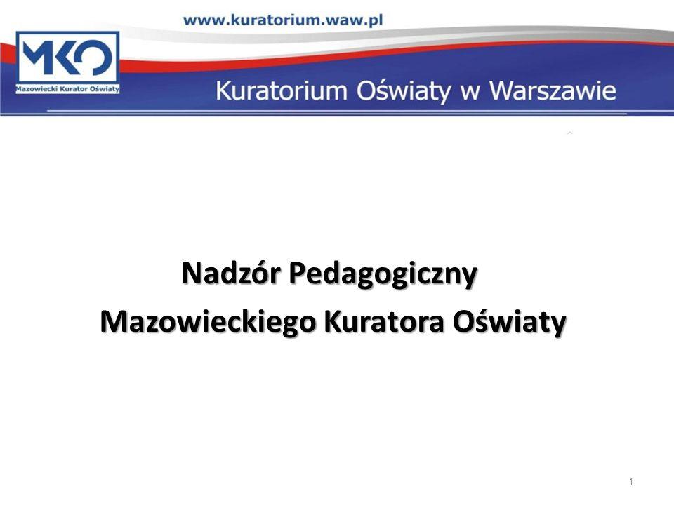 Nadzór Pedagogiczny Mazowieckiego Kuratora Oświaty Mazowieckiego Kuratora Oświaty 1