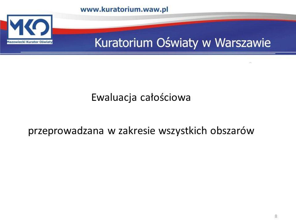 Ewaluacja całościowa przeprowadzana w zakresie wszystkich obszarów 8