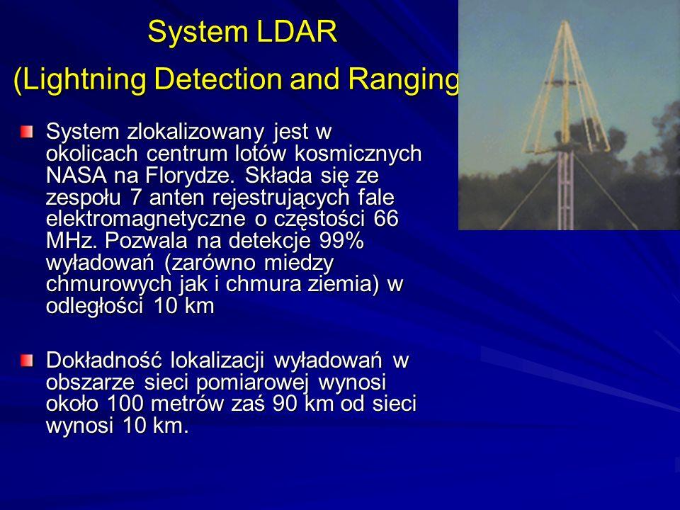 System LDAR (Lightning Detection and Ranging) System zlokalizowany jest w okolicach centrum lotów kosmicznych NASA na Florydze. Składa się ze zespołu