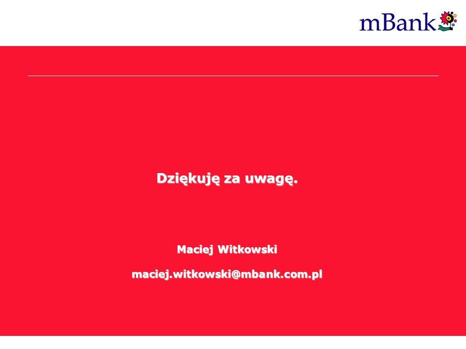 Post Internet Era Dziękuję za uwagę. Maciej Witkowski maciej.witkowski@mbank.com.pl