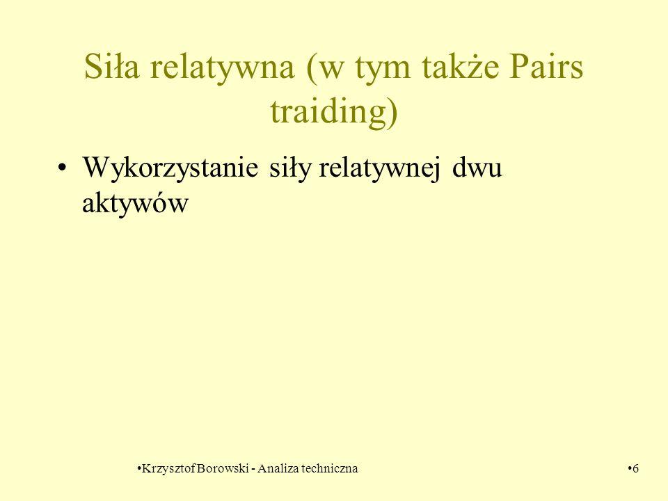 Krzysztof Borowski - Analiza techniczna37 Odległości znormalizowanych cen wybranych spółek z WIGu20 od znormalizowanego indeksu WIG20.