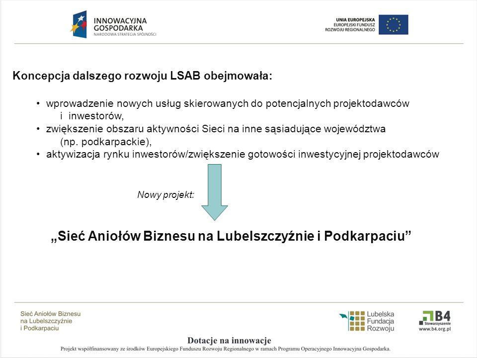 Koncepcja dalszego rozwoju LSAB obejmowała: wprowadzenie nowych usług skierowanych do potencjalnych projektodawców i inwestorów, zwiększenie obszaru a