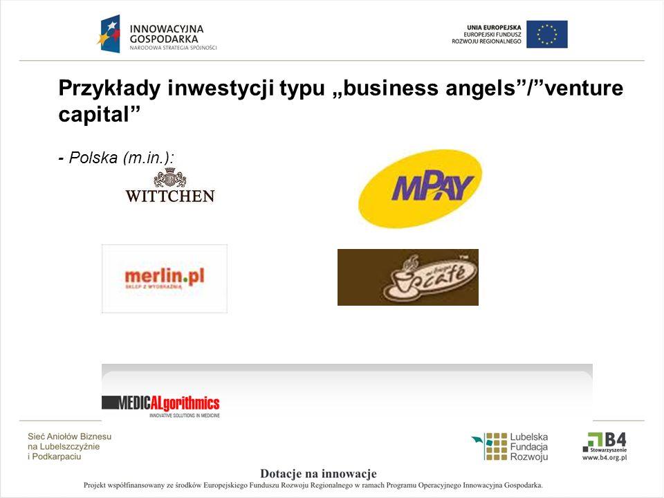 Przykłady inwestycji typu business angels/venture capital - Polska (m.in.):