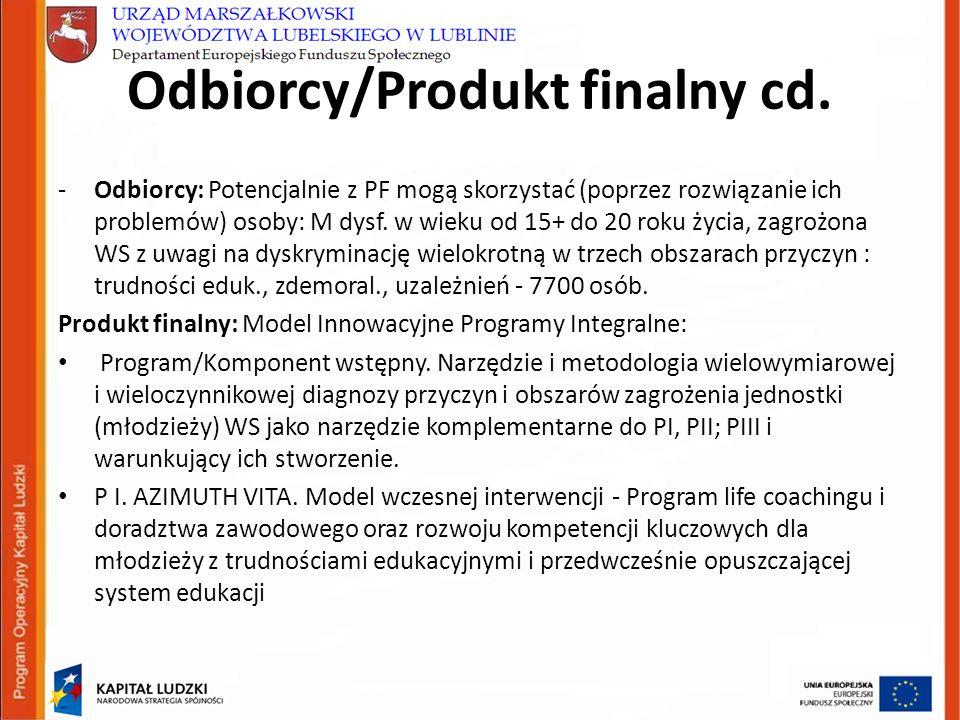 Odbiorcy/Produkt finalny cd.