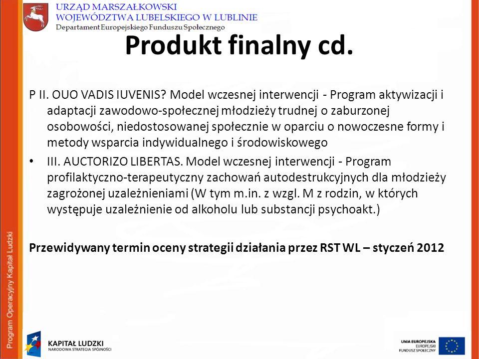 Produkt finalny cd. P II. OUO VADIS IUVENIS.